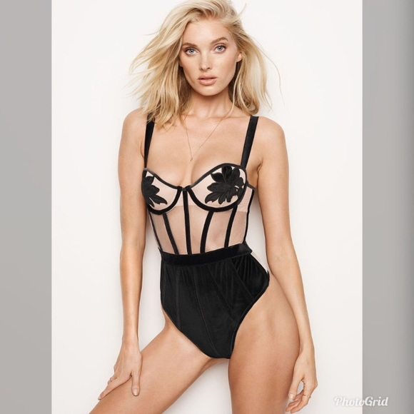 92f92157ec Victoria s Secret Velvet Appliqué Teddy Bodysuit